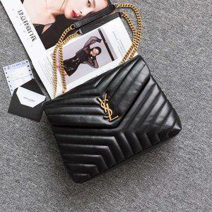 🎊YSL🎊 LouLou Medium Black Gold Bagwallet 1805🎊